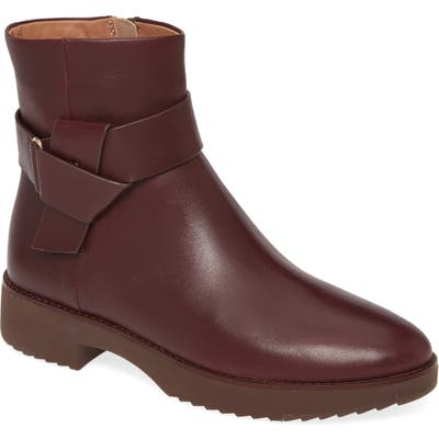 Fitflop Knot Bootie, Burgundy