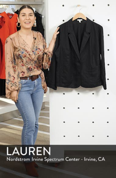 Shaped Organic Linen Blazer, sales video thumbnail
