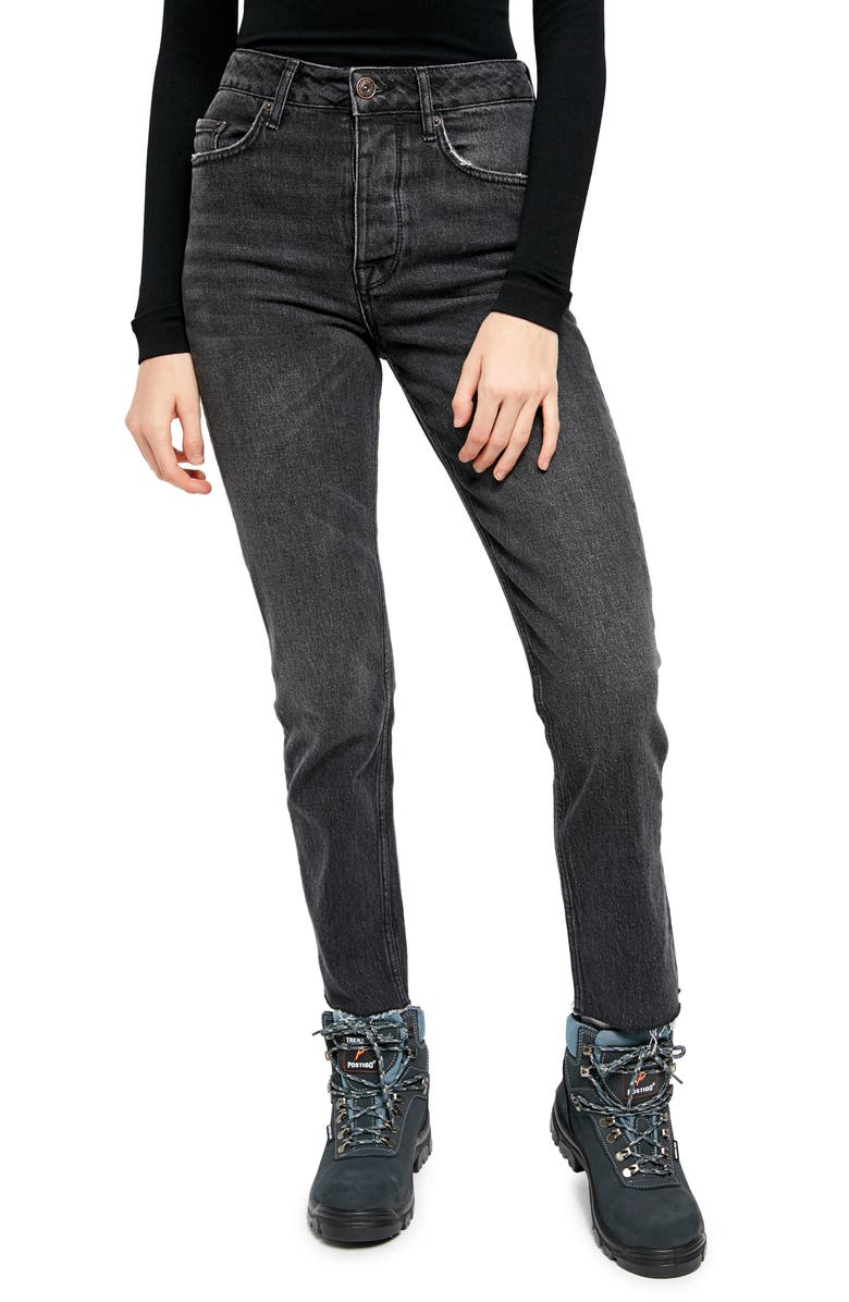 BDG Urban Outfitters Dillon Ankle Straight Leg Jeans, Main, color, BLACK