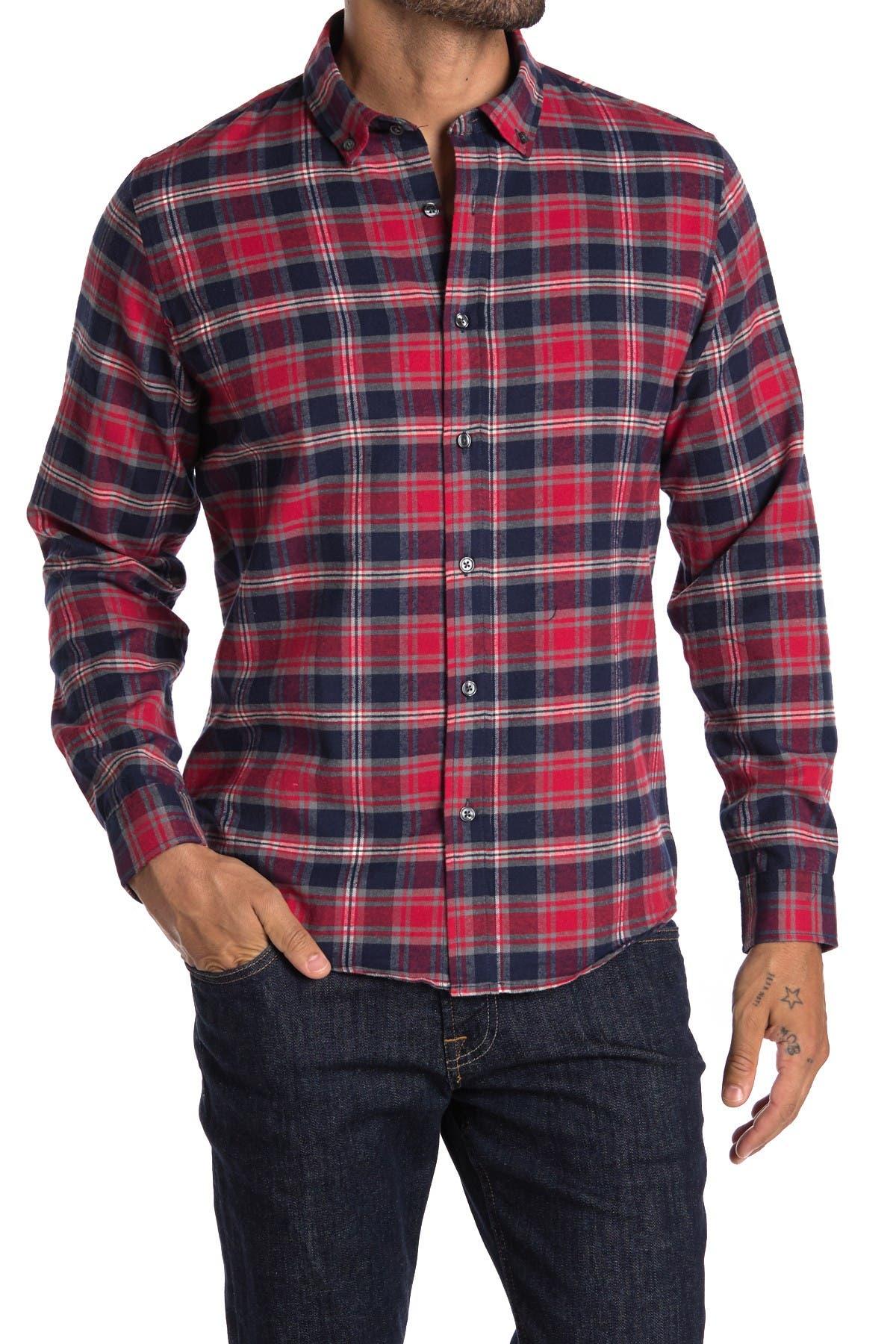 Image of Slate & Stone Woven Plaid Shirt