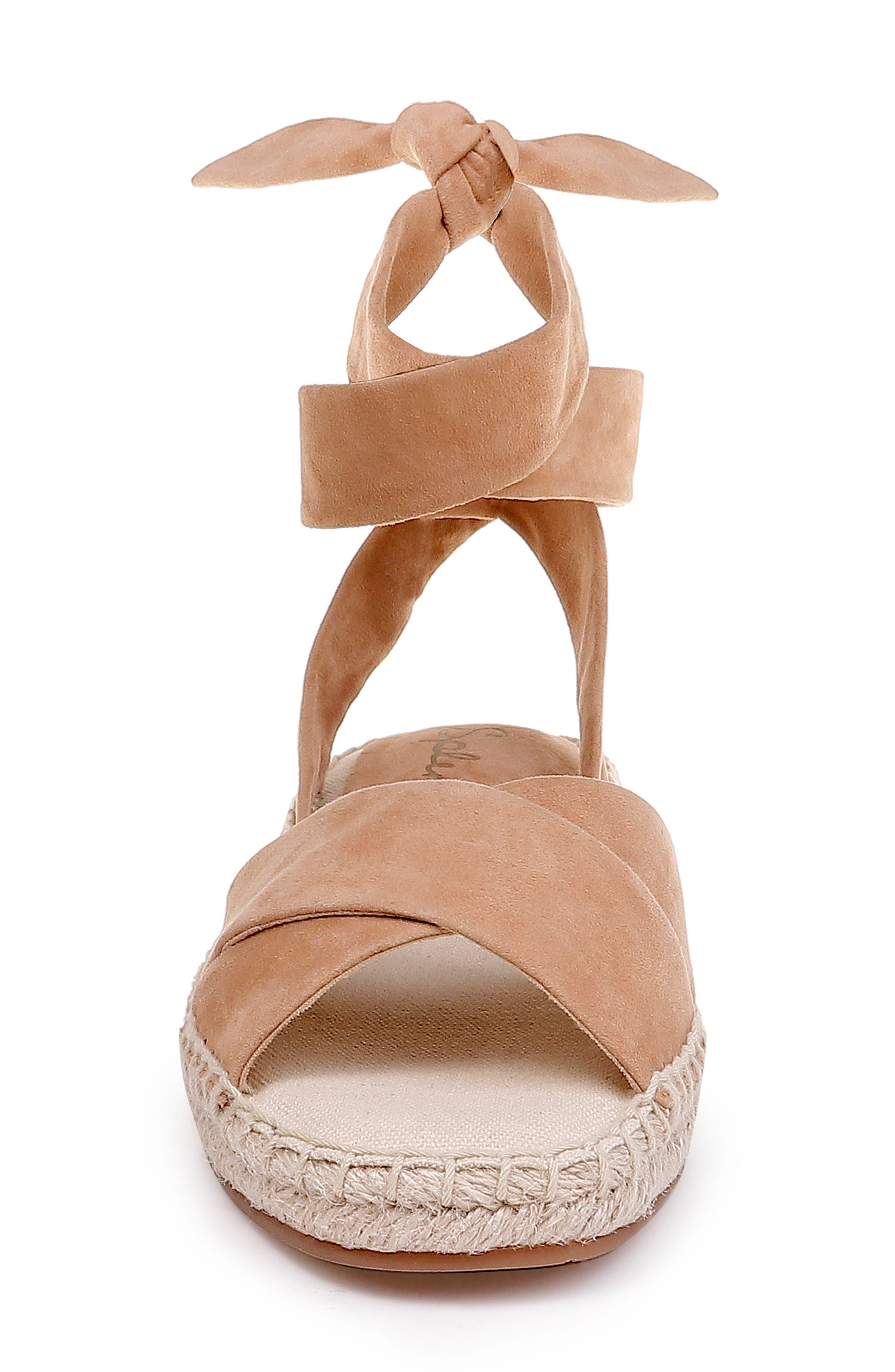 ,                             Tereza Ankle Wrap Sandal,                             Alternate thumbnail 4, color,                             TAN SUEDE