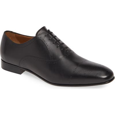 Boss Newport Medallion Toe Oxford- Black