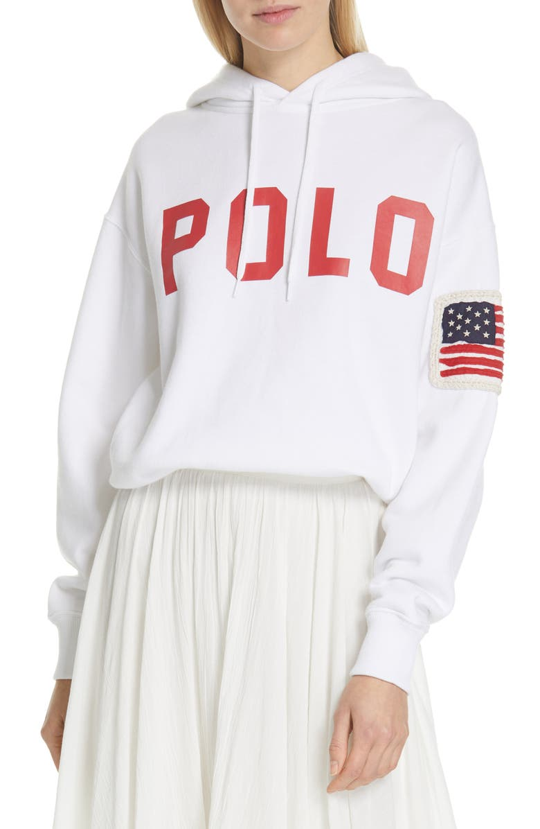POLO RALPH LAUREN Hoodie, Main, color, WHITE