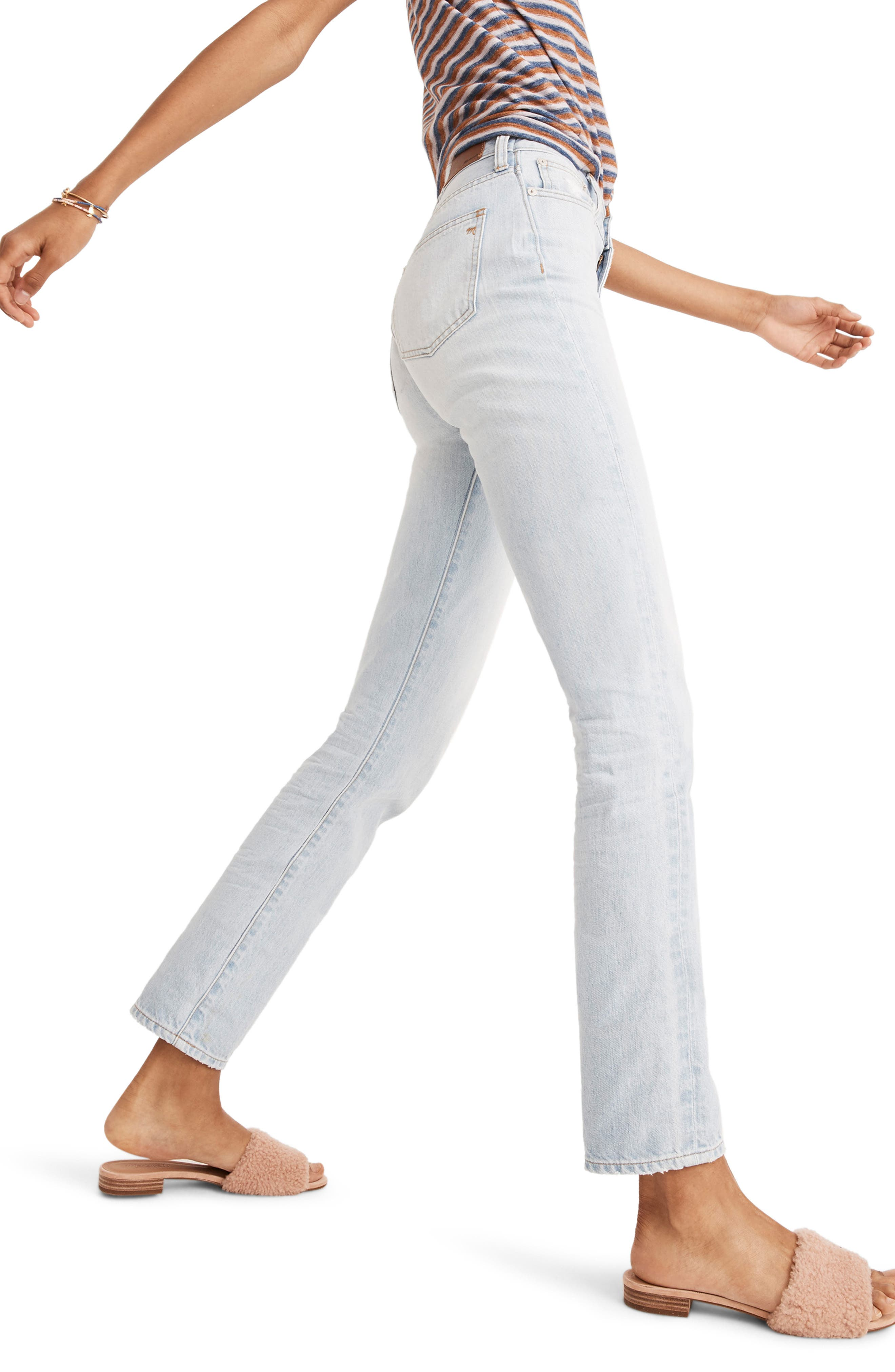 ,                             'Perfect Summer' High Rise Ankle Jeans,                             Alternate thumbnail 4, color,                             FITZGERALD WASH