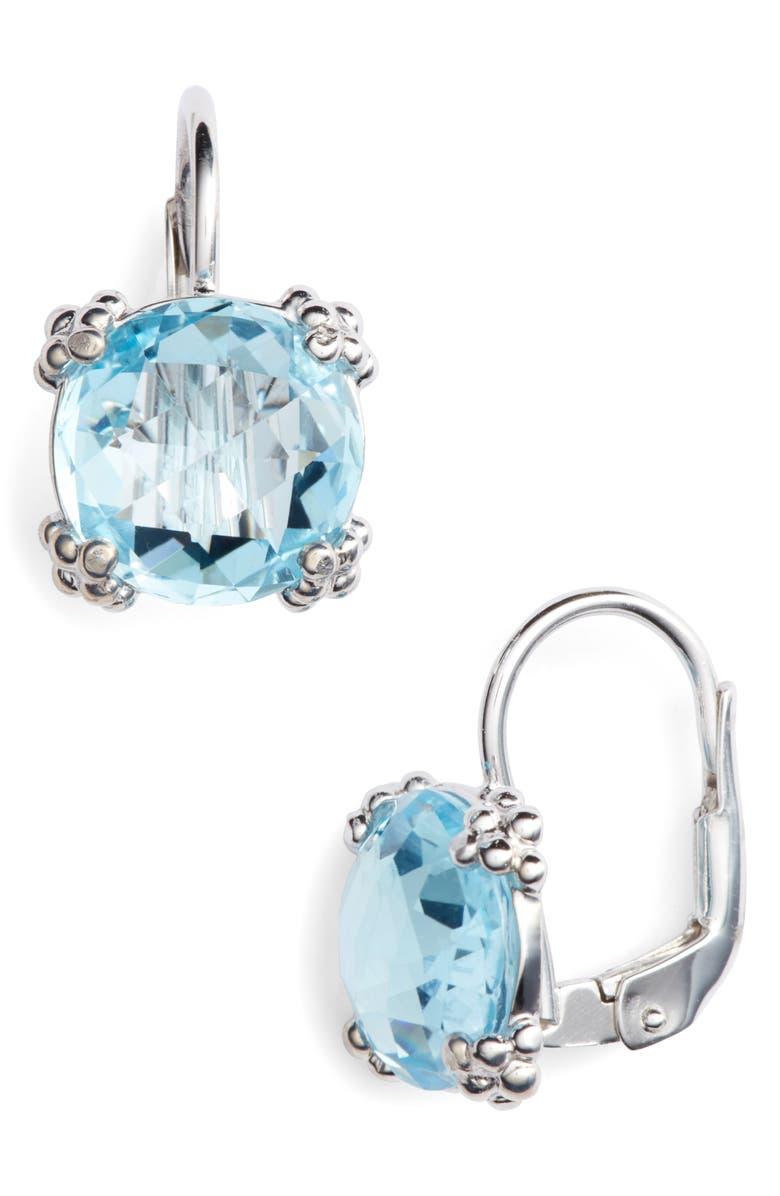 ANZIE Dew Drop Topaz Drop Earrings, Main, color, BLUE TOPAZ