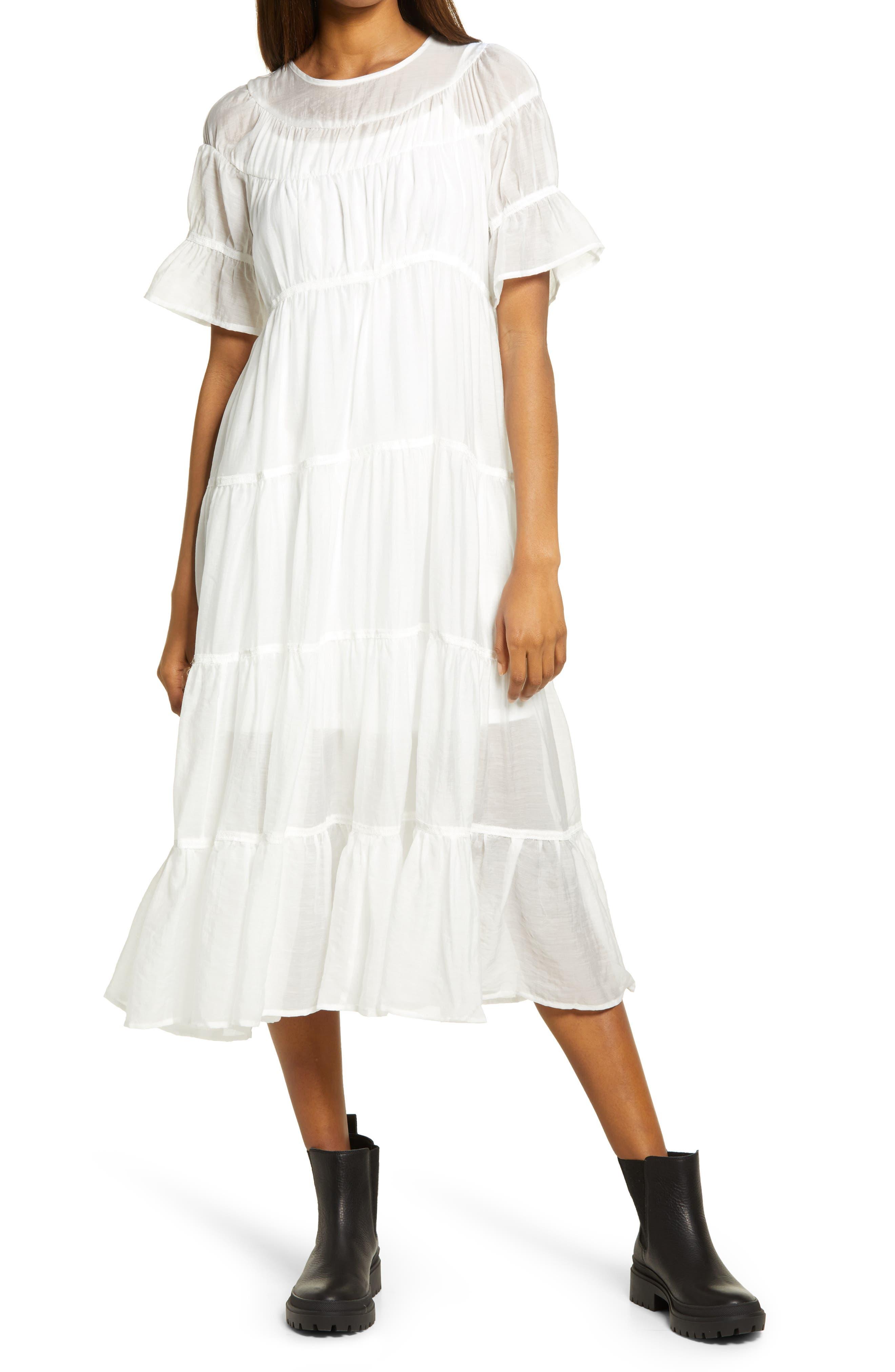 Lizzo Tiered Taffeta Dress