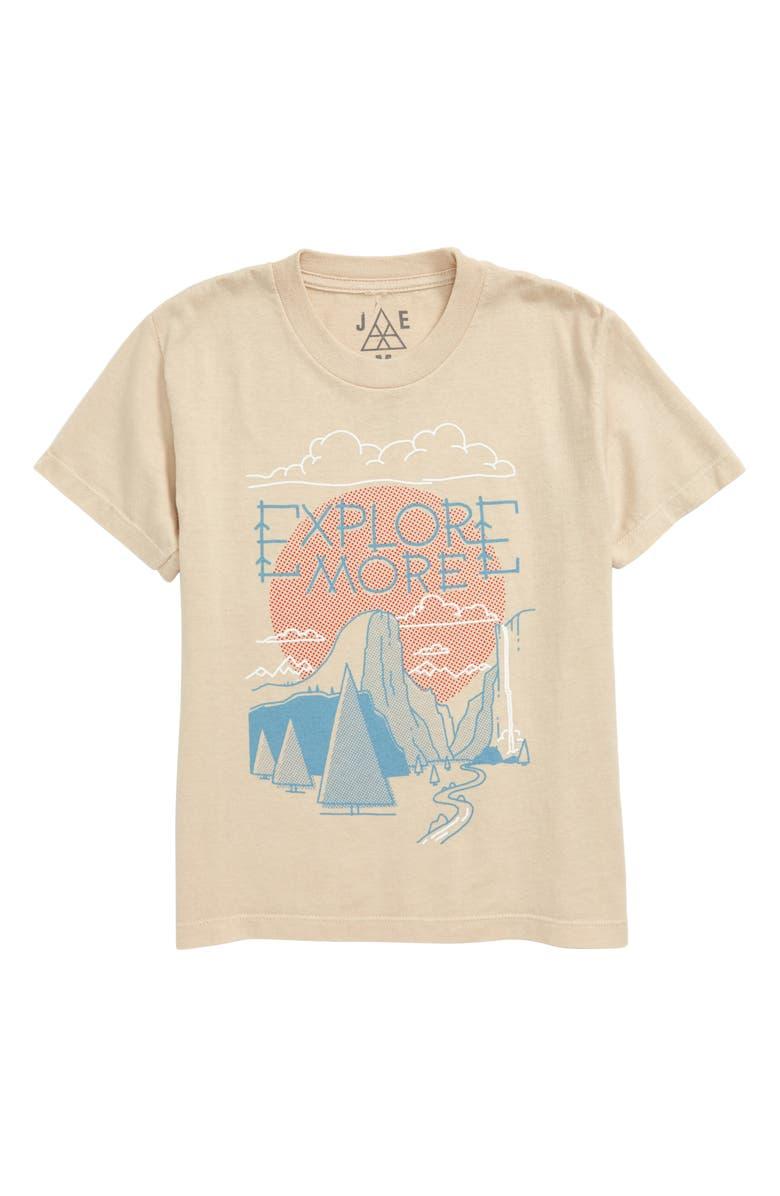 JEM Explore More Graphic T-Shirt, Main, color, NATURAL