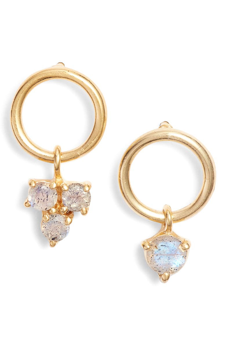 ARGENTO VIVO STERLING SILVER Argento Vivo Sweetheart Mismatched Stone Earrings, Main, color, 710