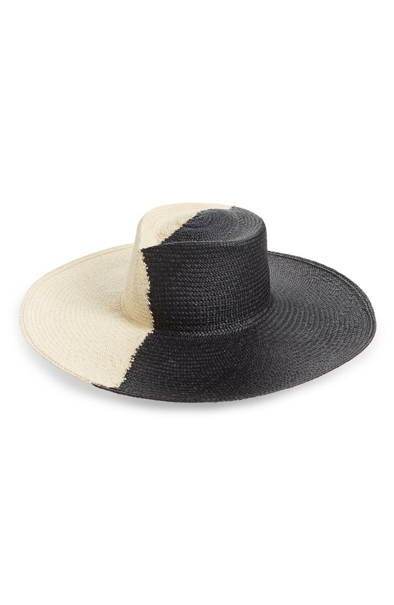 GLADYS TAMEZ Drury Lane Straw Panama Hat, Main, color, 001