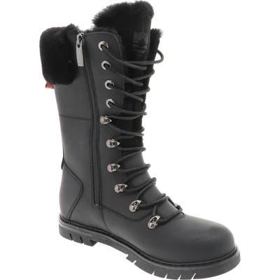 Royal Canadian Sherbrooke Genuine Shearling Cuff Waterproof Boot, Black