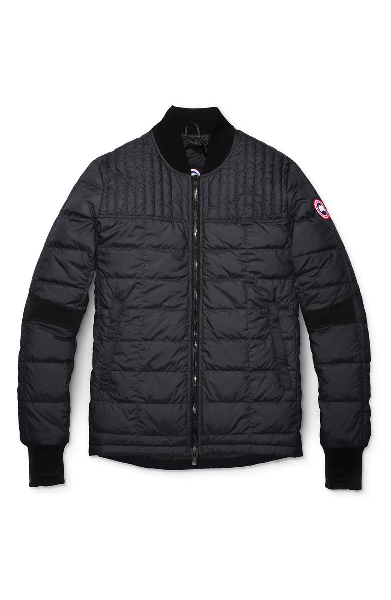 CANADA GOOSE Dunham Slim Fit Packable Down Jacket, Main, color, BLACK