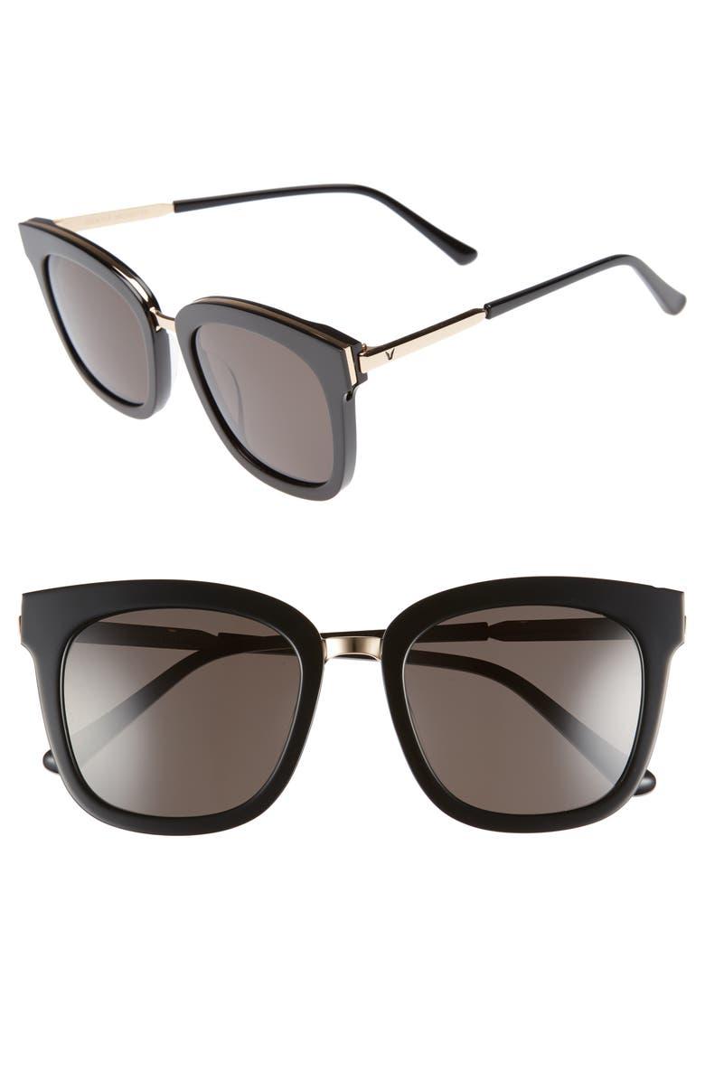 GENTLE MONSTER Button 54mm Zeiss Lens Sunglasses, Main, color, 002