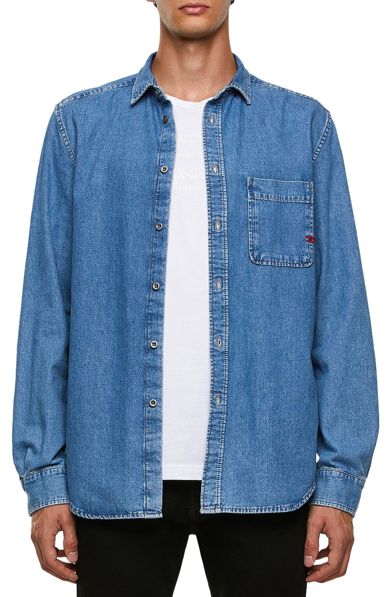 Men's Diesel D-Billy Button-Up Denim Shirt