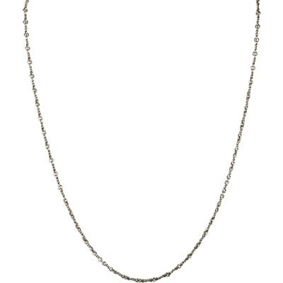 Degs & Sal Twisted Chain Silver Necklace