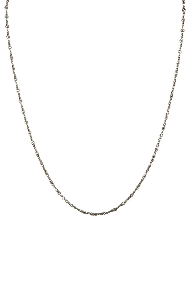 DEGS & SAL Twisted Chain Silver Necklace, Main, color, SILV