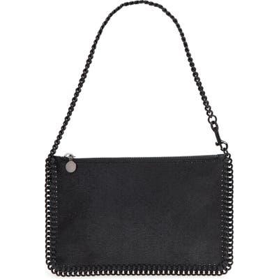 Stella Mccartney Falabella Shaggy Deer Faux Leather Handbag - Black