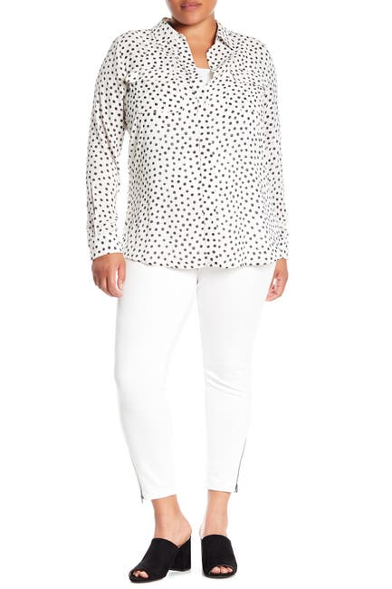 Image of HUE Ankle Zip Simply Stretch Skinny Pants
