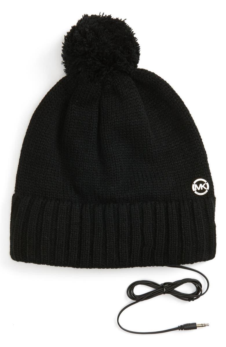 MICHAEL MICHAEL KORS 'Tech' Knit Hat, Main, color, 001