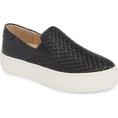 Jslides Halsey Woven Slip-On Sneaker- Black