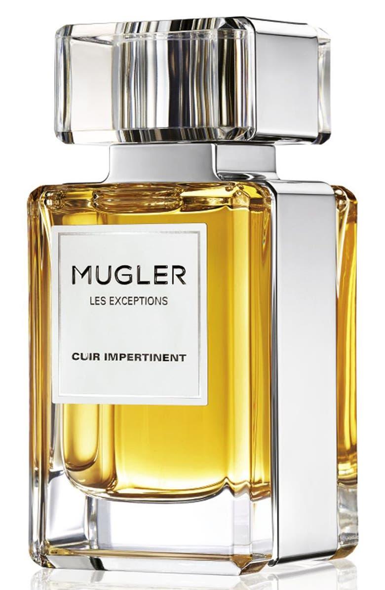 MUGLER 'Les Exceptions - Cuir Impertinent' Eau de Parfum Refillable Spray, Main, color, 000