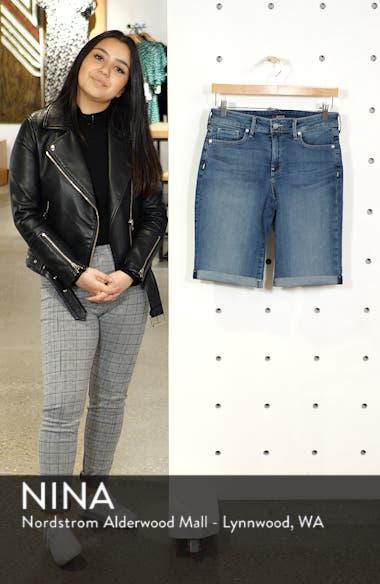 Briella Roll Cuff Stretch Denim Shorts, sales video thumbnail