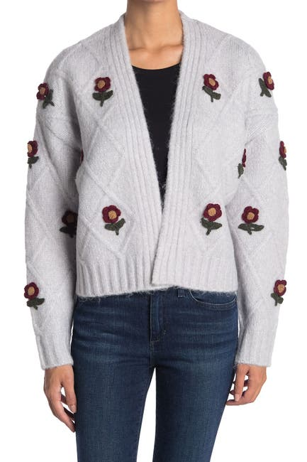 Image of Cliche Knitted Flower Cardigan