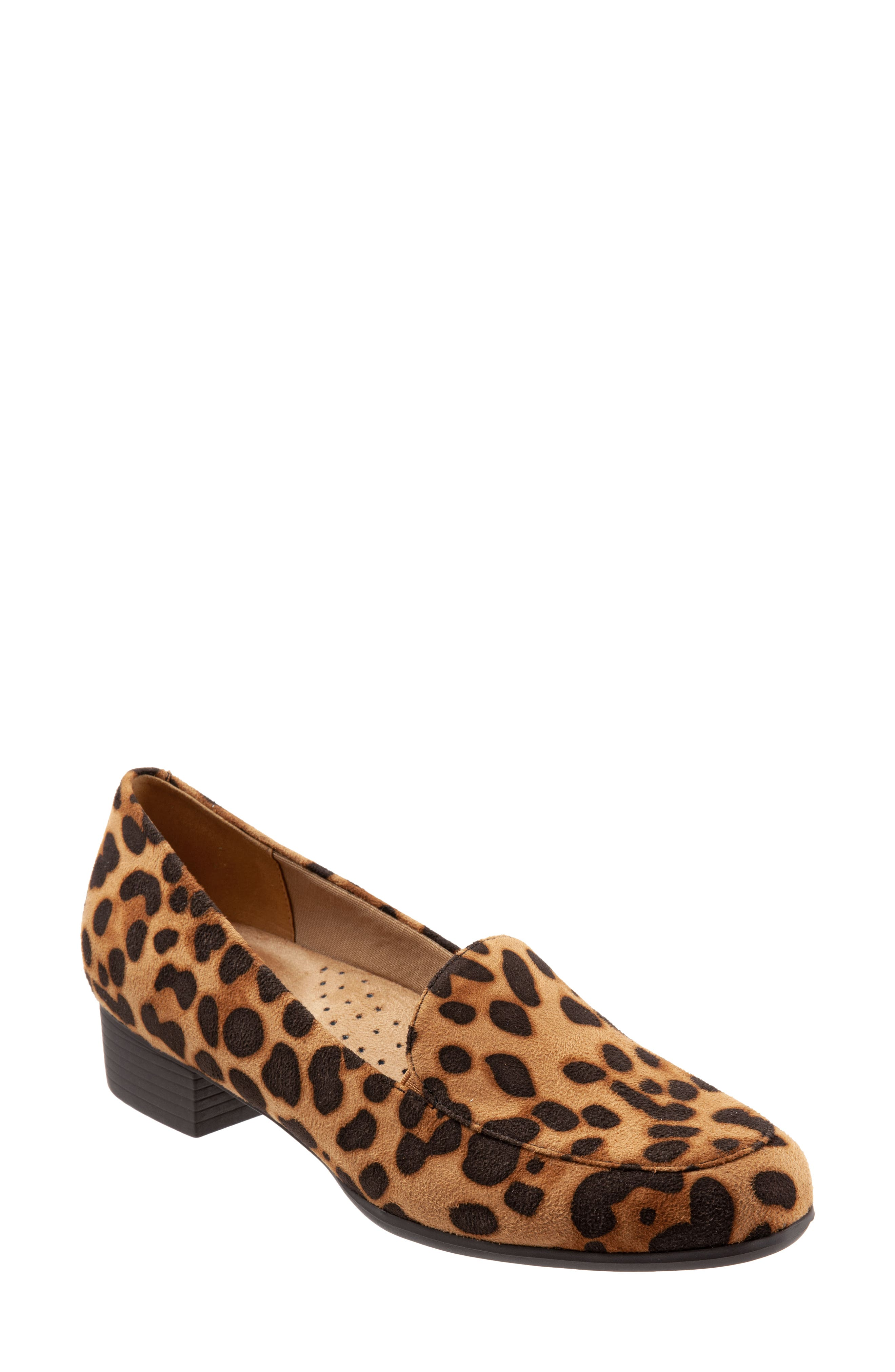 Leopard spots make a trend-savvy mark on a block-heel loafer that adds a bit of extra pizzazz to your office style. Style Name: Trotters Monarch Loafer (Women). Style Number: 6117110. Available in stores.