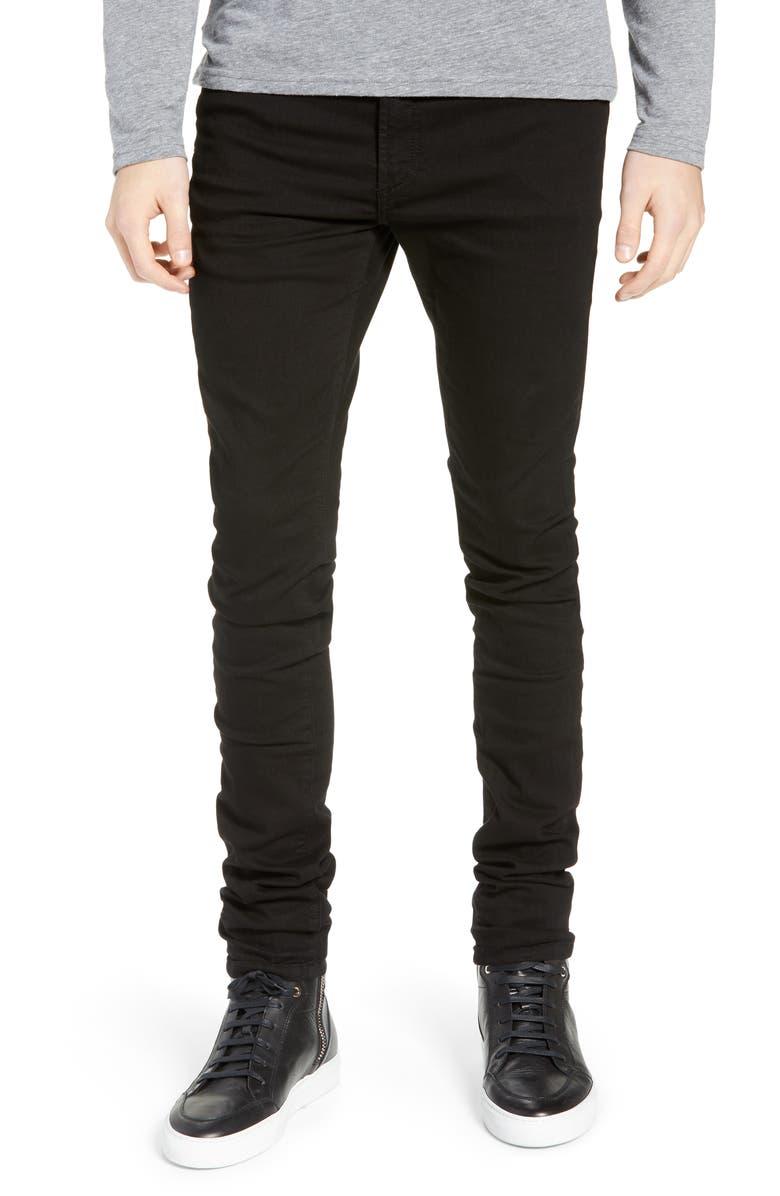 MONFRÈRE Greyson Skinny Fit Jeans, Main, color, NOIR