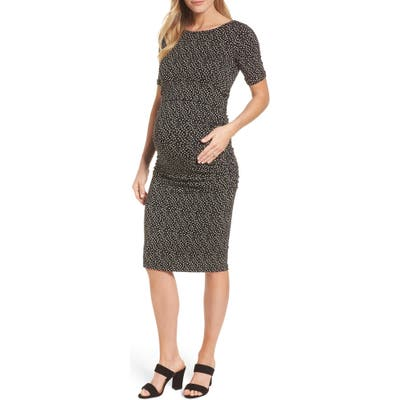 Isabella Oliver Danni Ruched Maternity Dress, Black
