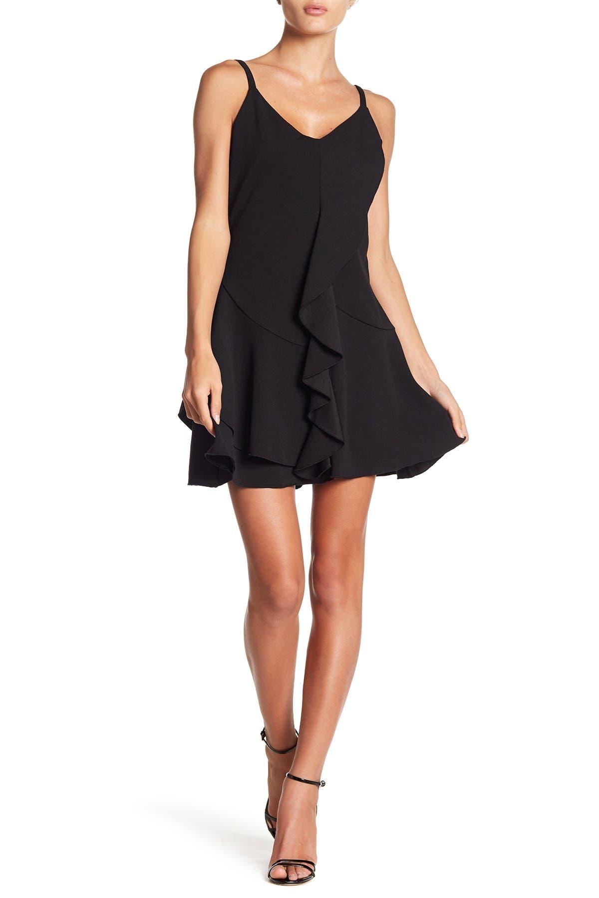Image of bebe Ruffled V-Neck Dress