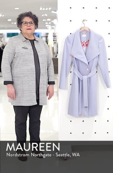 Wool Blend Long Wrap Coat, sales video thumbnail