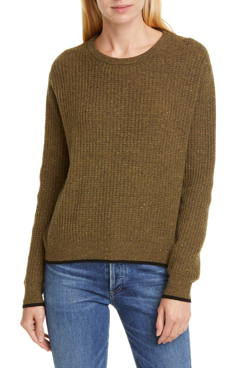 LINE Leah Cashmere Sweater, Main, color, OLIVE GROVE