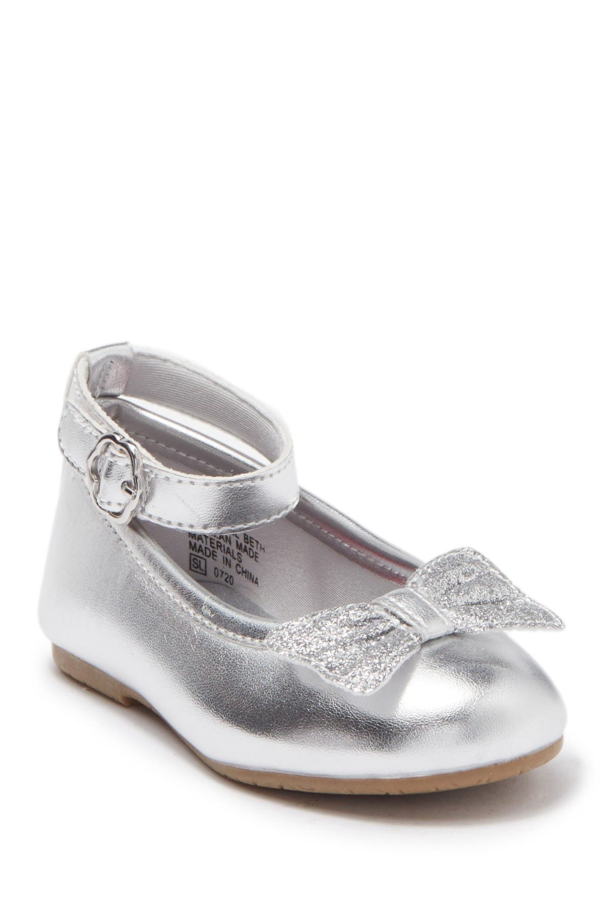 Image of Valencia Imports Lil Beth Bow Ankle Strap Ballet Flat