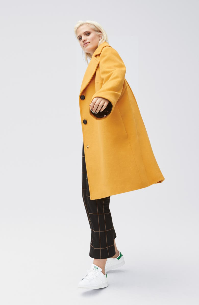 SAM EDELMAN Oversize Lapel Wool Blend Coat, Main, color, 200