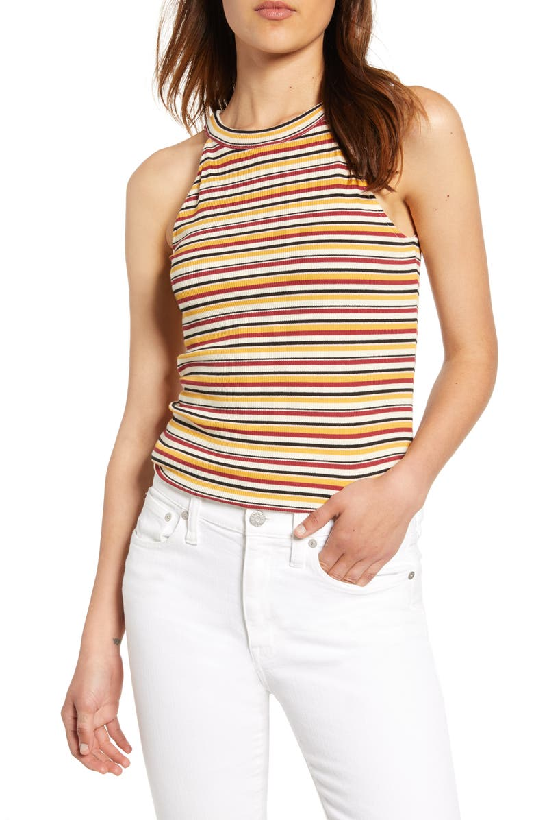 1.STATE High Neck Stripe Tank, Main, color, 104