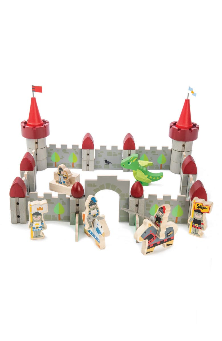 TENDER LEAF TOYS Dragon Castle Play Set, Main, color, MULTI