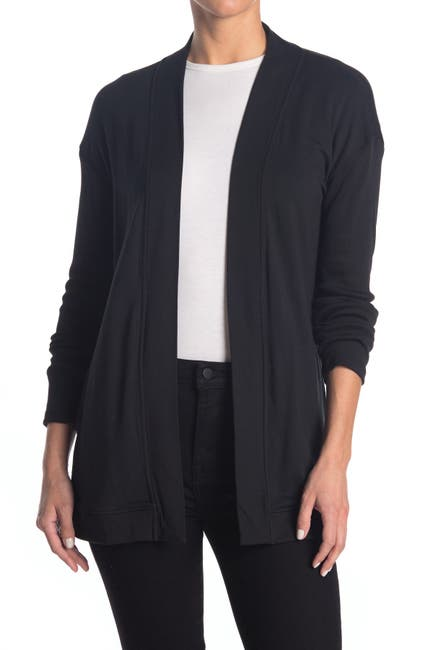 Image of Magaschoni Long Sleeve French Terry Open Cardigan