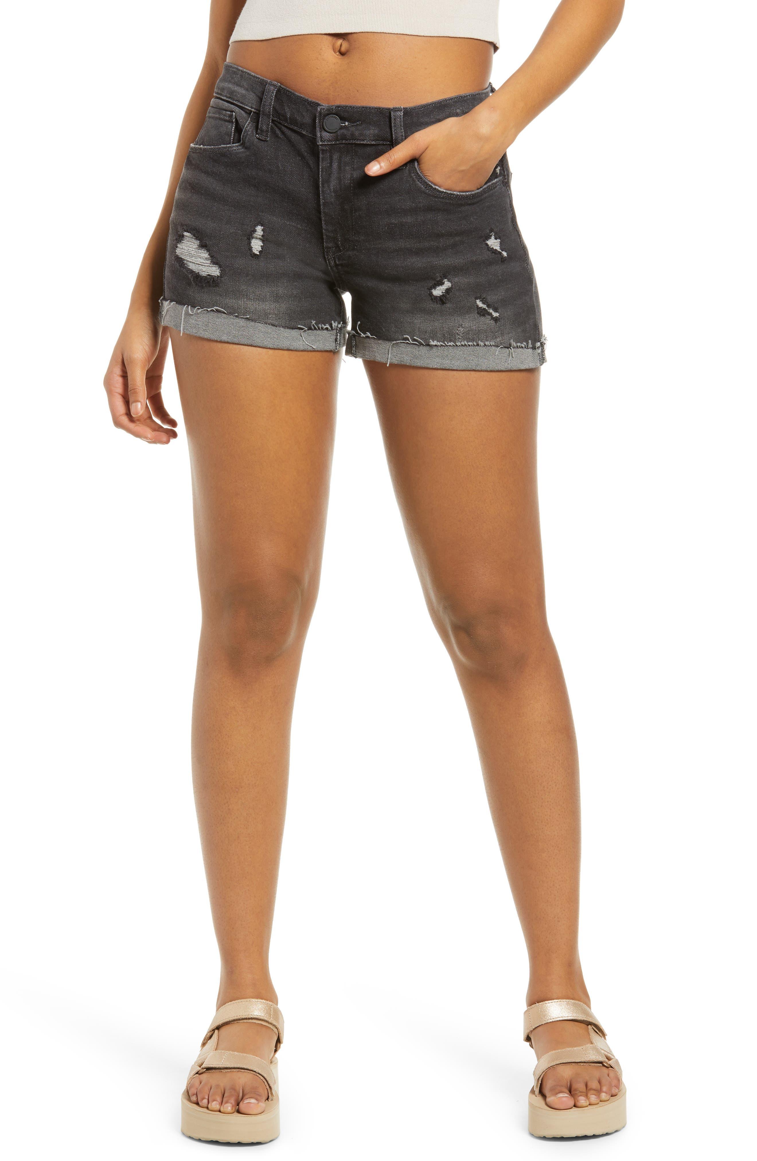 Womens Denim Hot Pants New Mini Ripped Shorts Blue Washed Size 6 8 10 12 14
