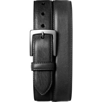 Shinola Bedrock Leather Belt, Black