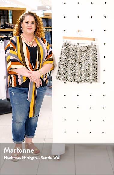 Faux Leather Snakeskin Miniskirt, sales video thumbnail