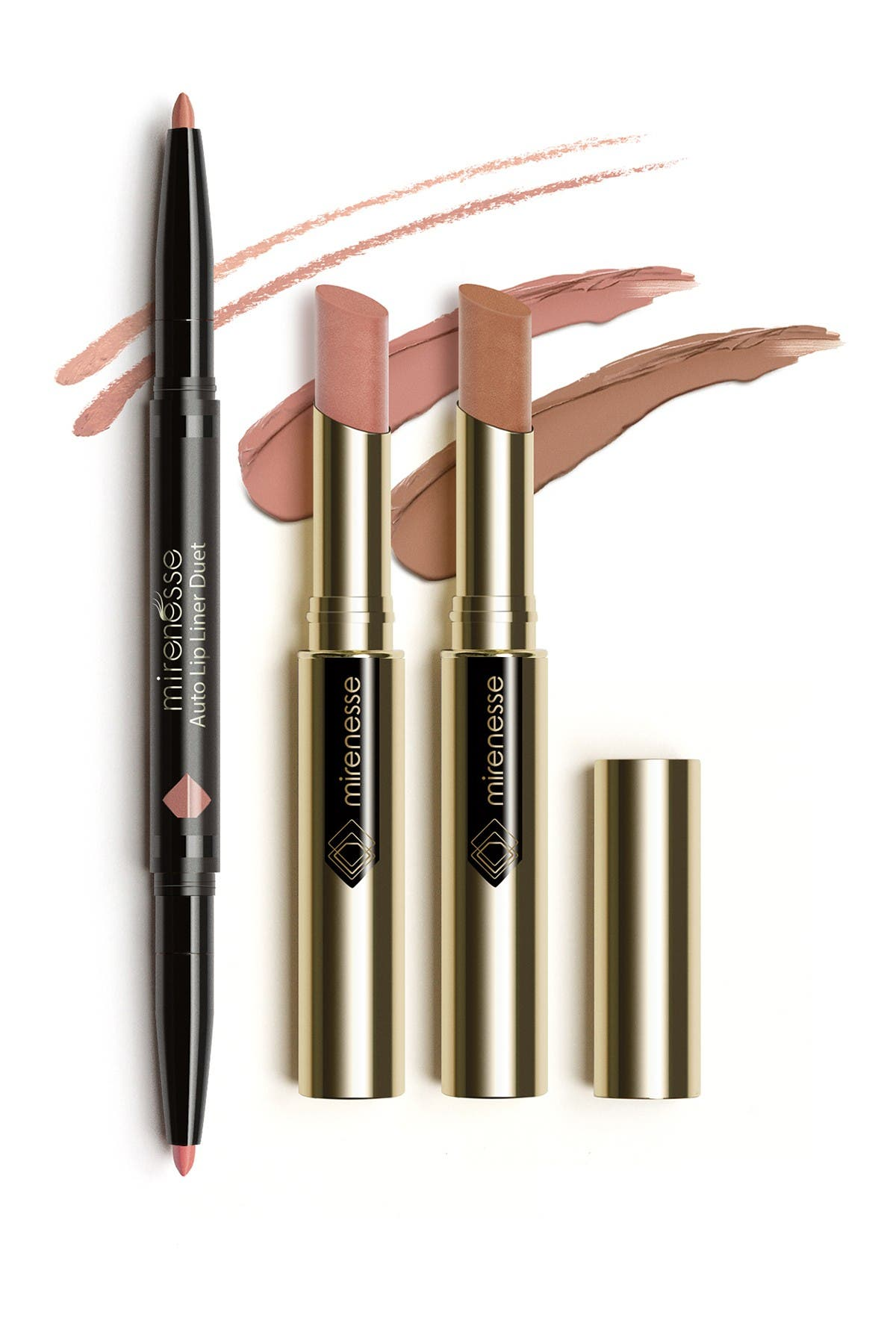 Image of Mirenesse Matte Nude 3-Piece Kiss Lipstick Collection