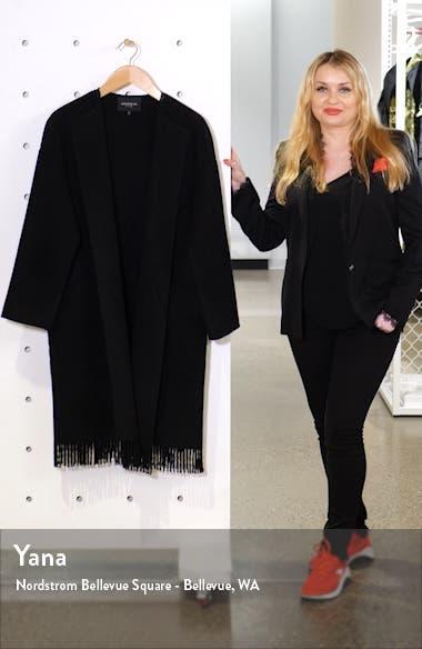 Barnett Fringe Trim Cashmere Coat, sales video thumbnail
