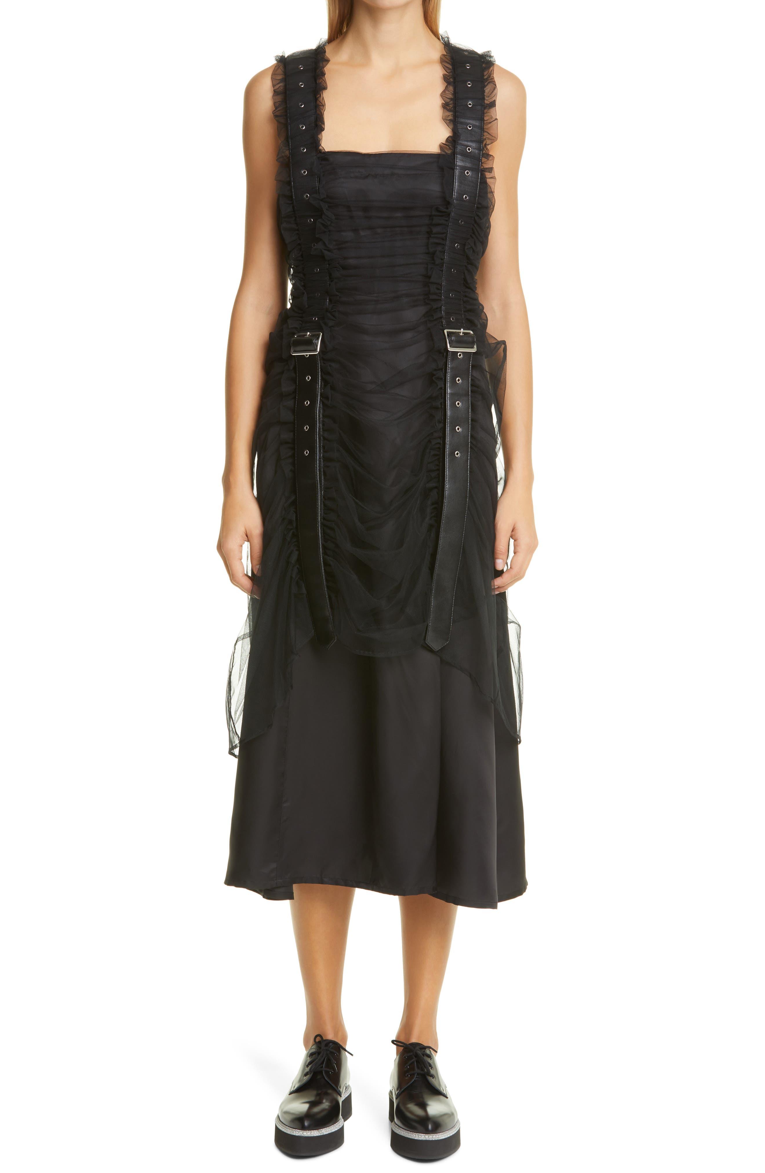 Noir kei ninomiya Suspender Strap Tulle Layer Dress | Nordstrom