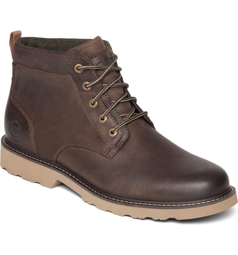 DUNHAM Jake Waterproof Boot, Main, color, DARK BROWN
