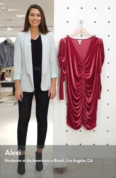 Velour Ruched Minidress, sales video thumbnail