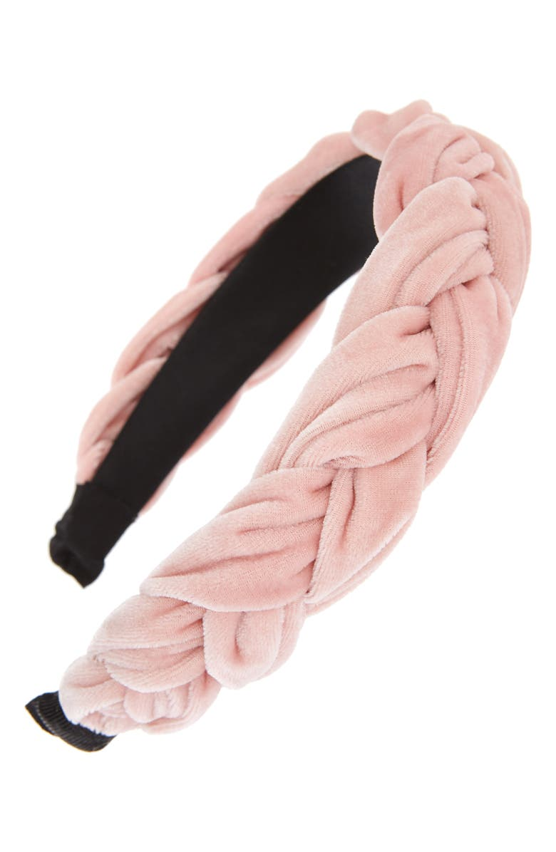 8 OTHER REASONS Blush Braided Headband, Main, color, PINK