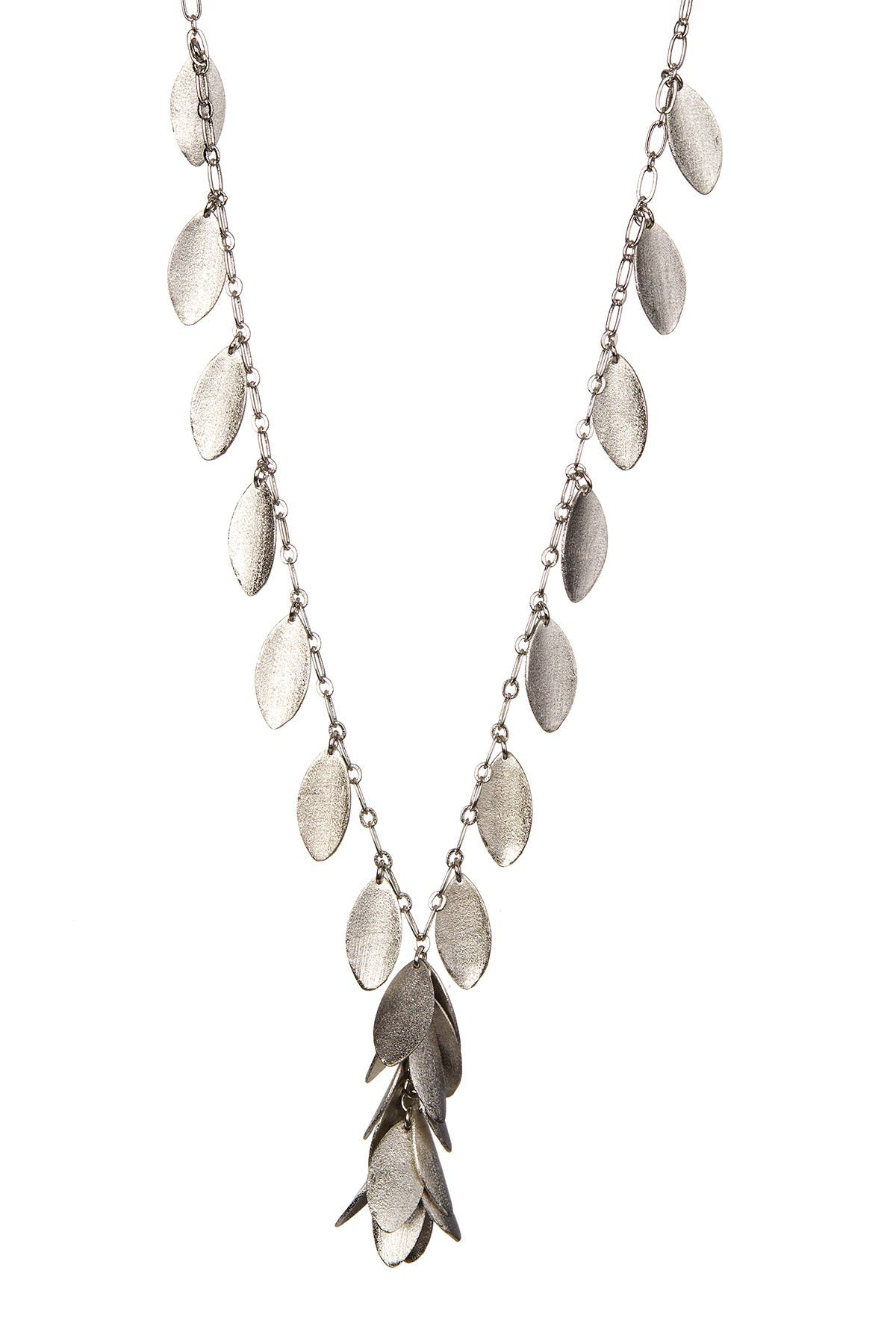 Image of Rivka Friedman Cascading Marquise Dangle Y Satin Necklace