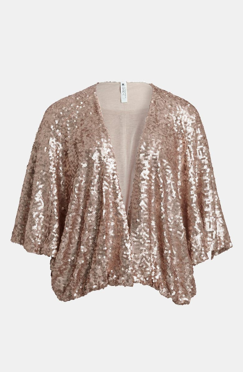 MURAL Sequin Shrug, Main, color, 695