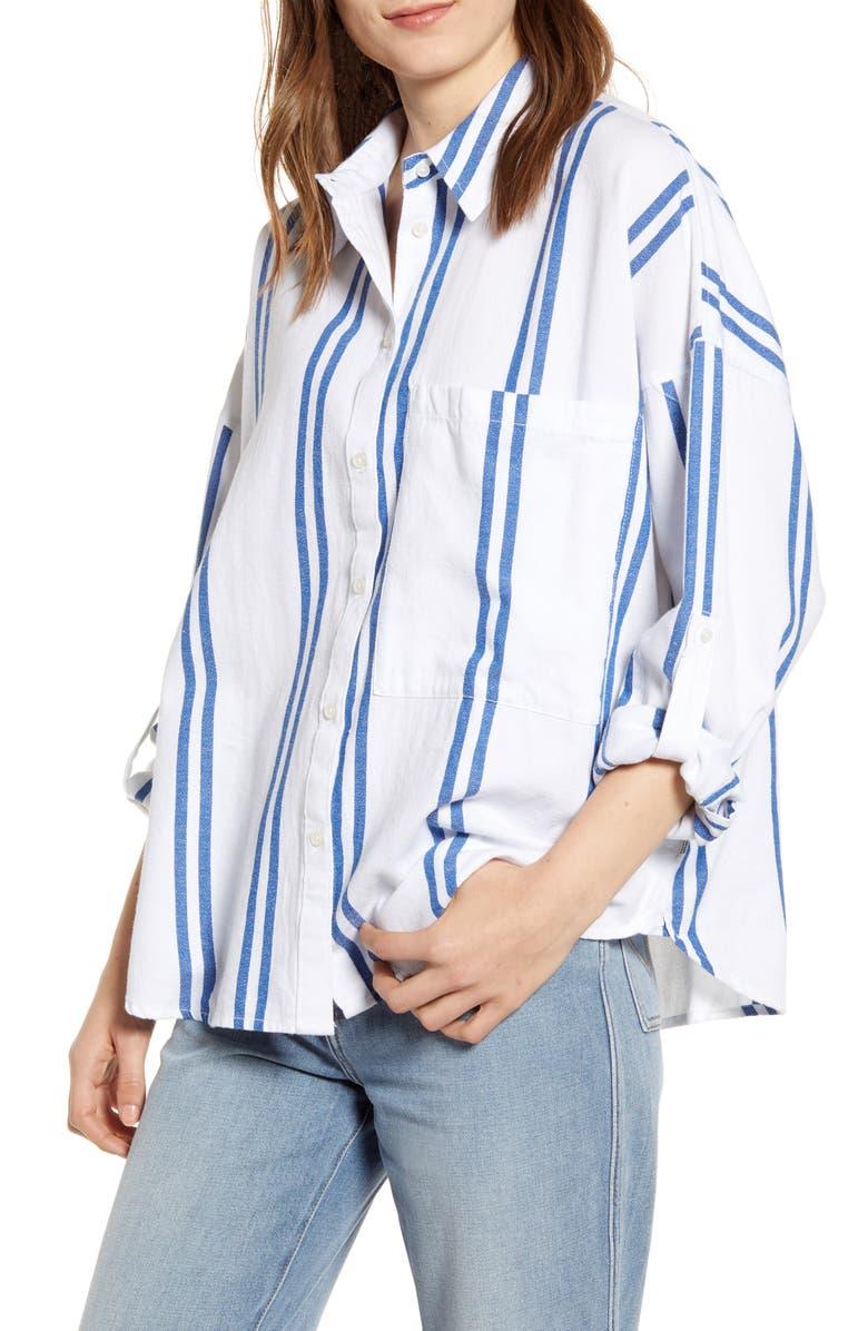 WRANGLER Oversize Stripe Shirt, Main, color, 100