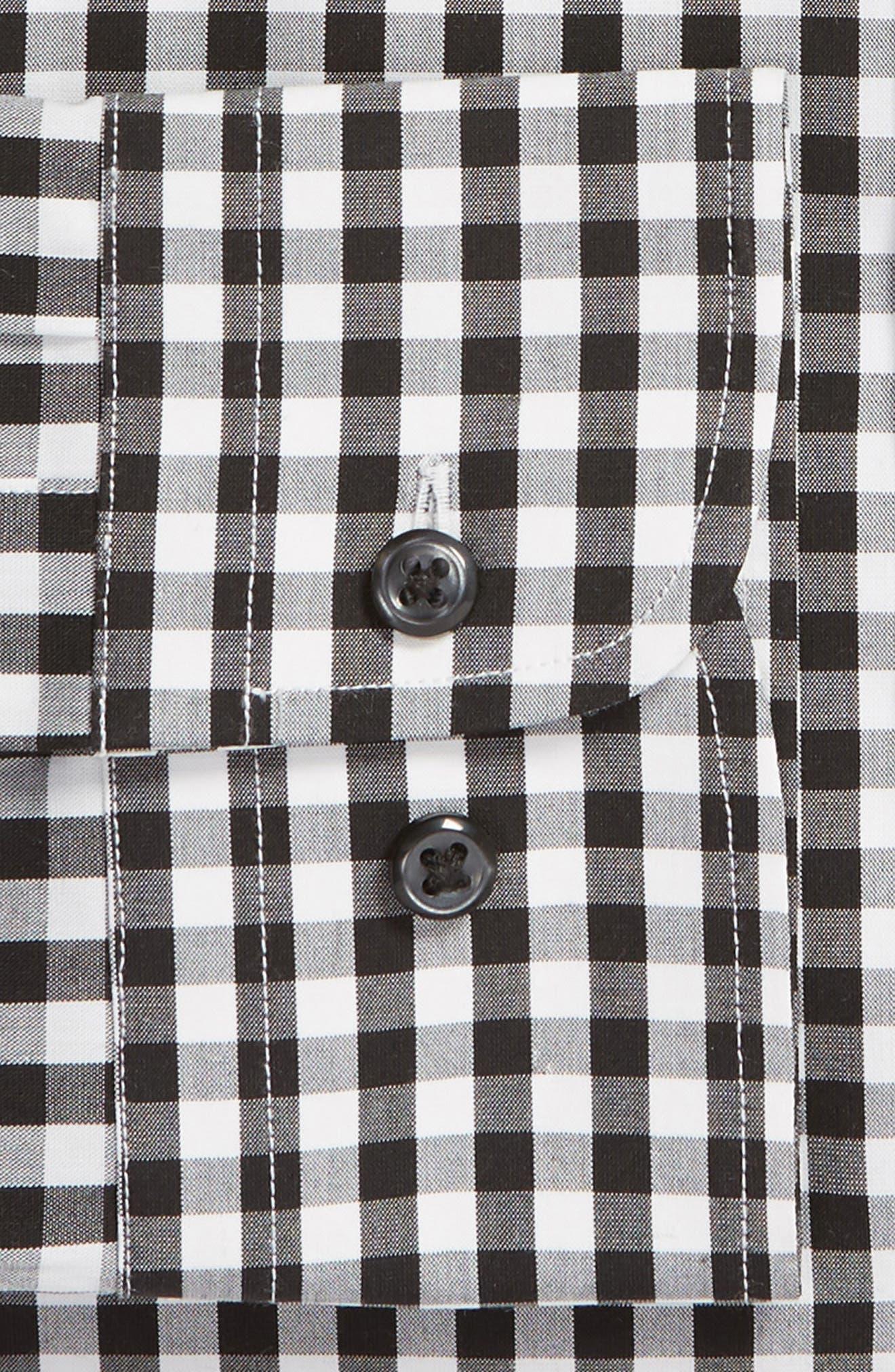 ,                             Tech-Smart Trim Fit Stretch Check Dress Shirt,                             Alternate thumbnail 6, color,                             001